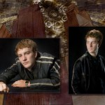 High school senior in his grungy leather at Dan Iott Photography
