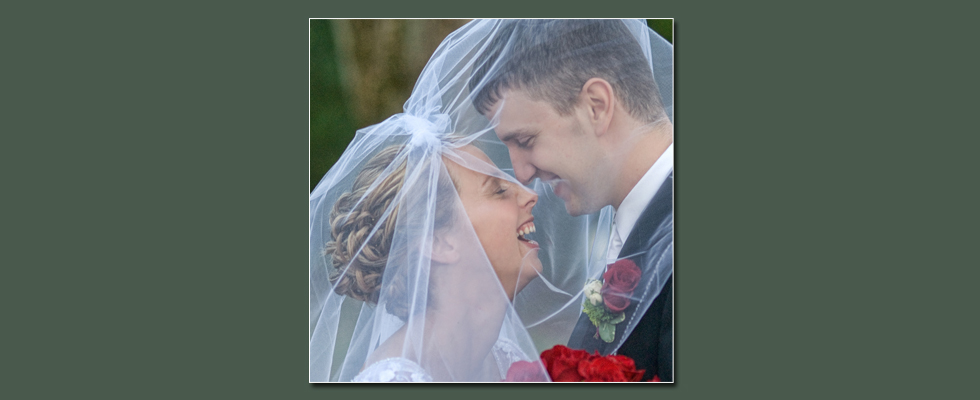 Wedding photography of joyous couple